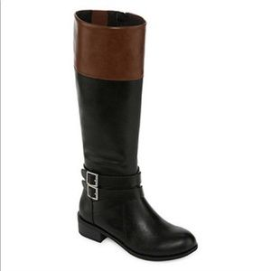 Arizona Jean Company Shoes - Black and Brown Tall Riding Boots 8.5M